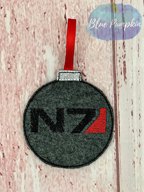 Mass Effect N7 Ornament Design
