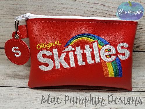 5x7 Rainbow Candy ITH Zipper Bag Design