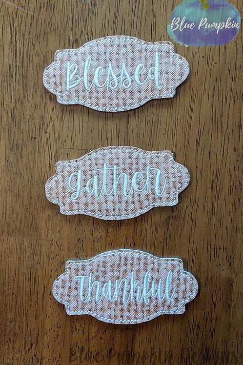 Thanksgiving Set of  Napkin Ring Holders