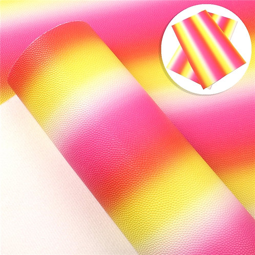 Yellow Pinks Ombre Embroidery  Vinyl