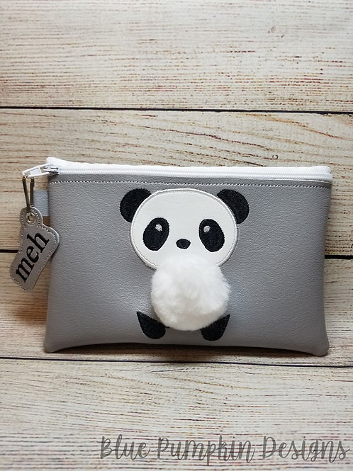 3d Panda ITH Zipper Bag Design