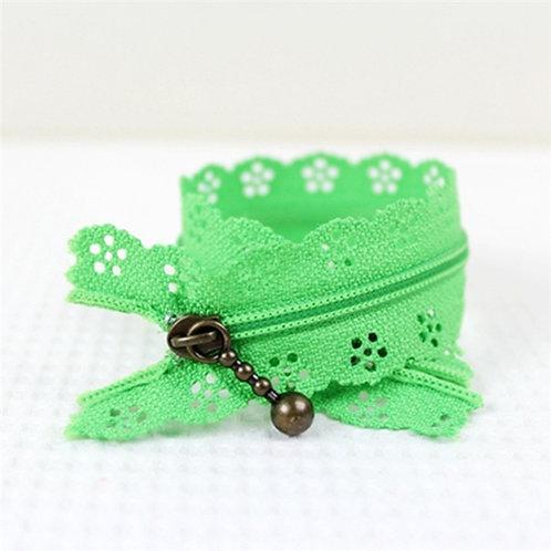 12in Spring Green Lace Zipper
