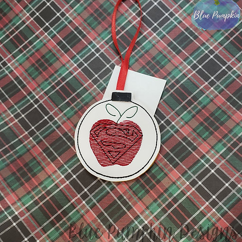Apple Teacher Superhero Ornament and Gift Card Holder