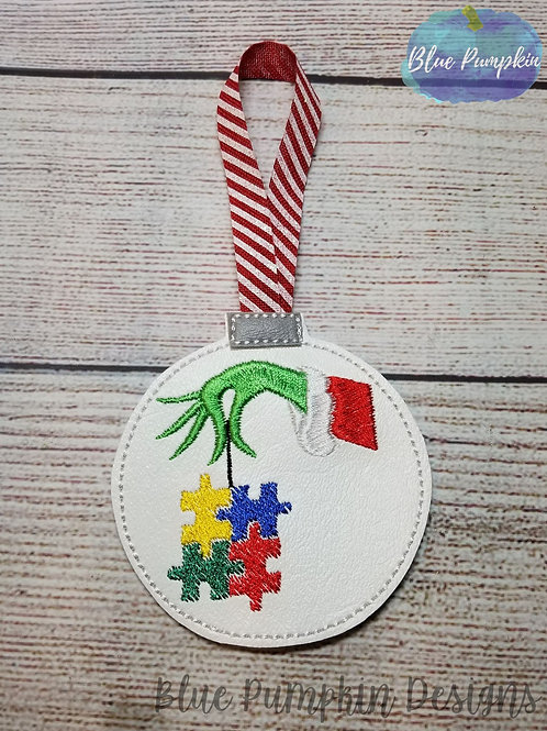 Grouch w Puzzle Pieces Ornament
