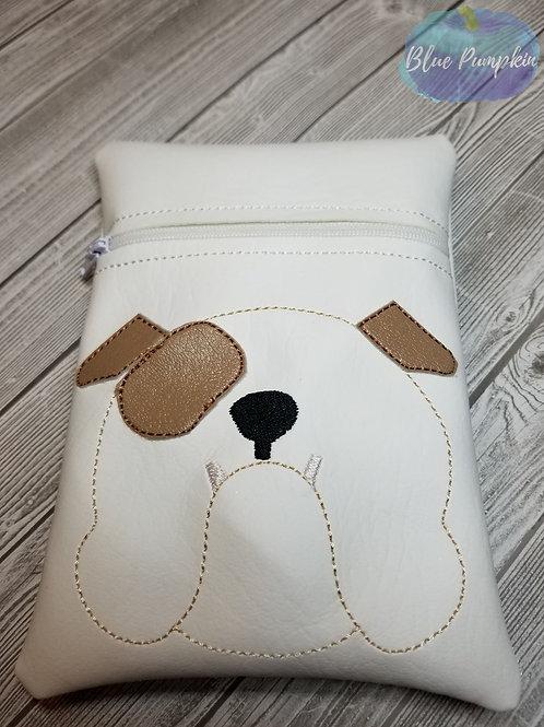 7x5 Bulldog ITH Zipper Bag Design