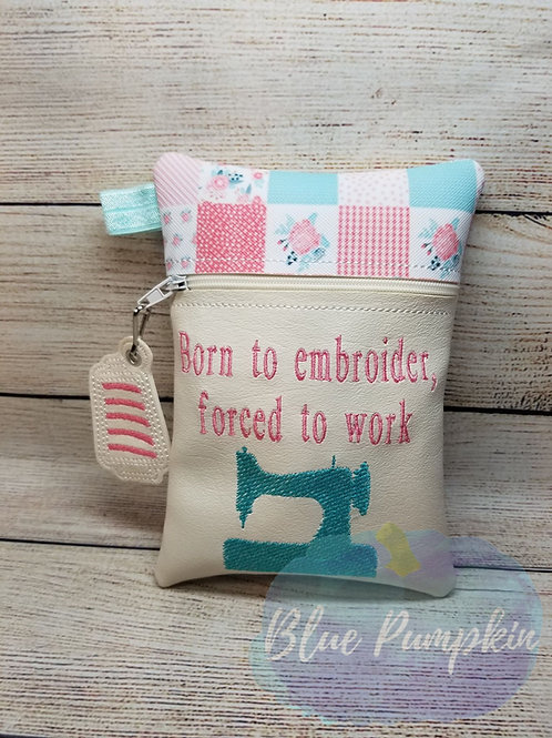Born to Embroider ITH Zipper Bag Design