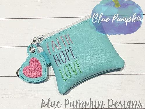 4x4 5x5 FAITH LOVE HOPE ITH Bag Design