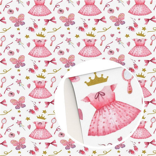 Princess Gown and Crown Printed Embroidery Vinyl
