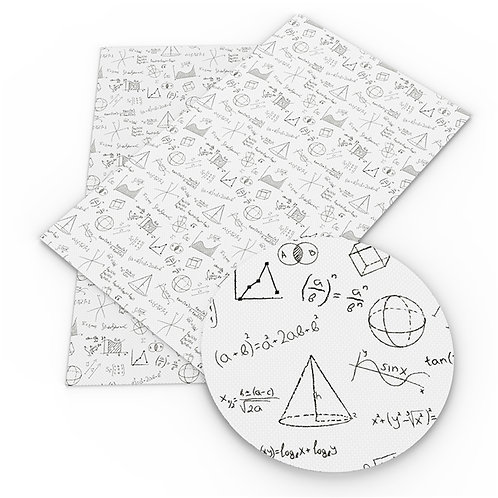 Math Scribbles Printed Embroidery Vinyl