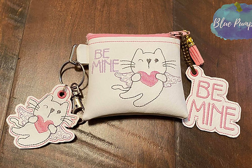 Be Mine Cupid Kitty 4x4 ITH Bag Design