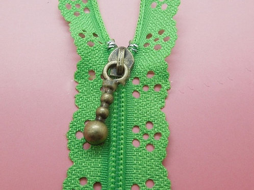 Spring Green Lace Zipper