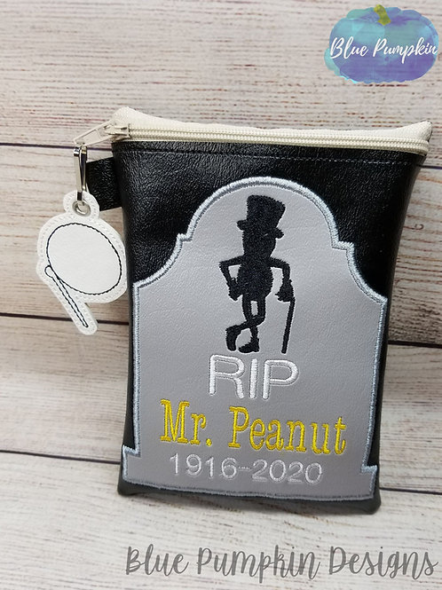 RIP Mr Peanut ITH Zipper Bag Design
