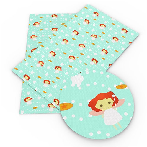 Red hair Tooth Fairy Embroidery Vinyl
