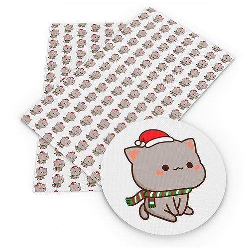 Christmas Cat Embroidery Vinyl