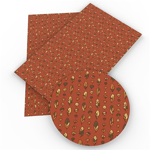 Brown with Feathers Embroidery Vinyl