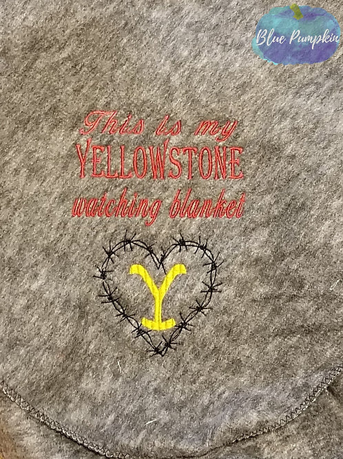 Tv Watching Blanket Yellowstone Logo Design