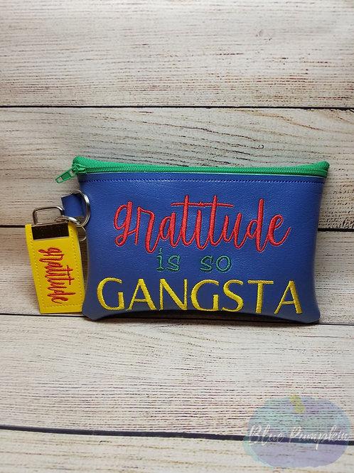 Gratitude Gangsta 5x7 ITH Zipper Bag Design