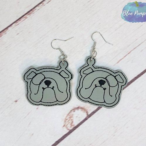 Bulldog Head Earrings