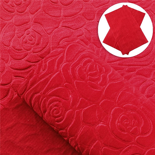 Red Rose Embossed Embroidery Vinyl