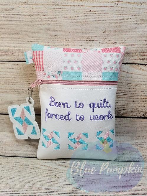 Born to Quilt ITH Zipper Bag Design