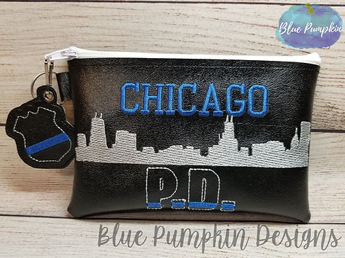 Chicago PD ITH Zipper Bag Design