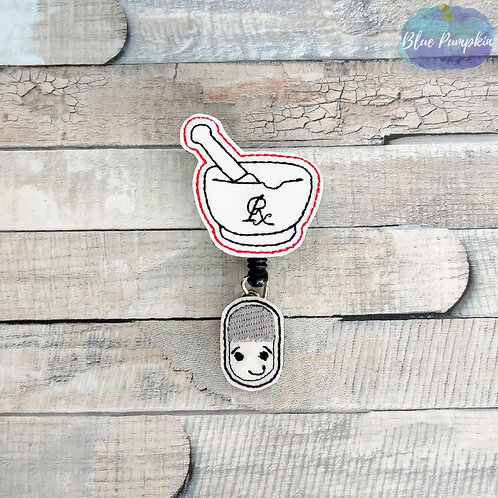 Pharm Tech Badge Reel Feltie Design