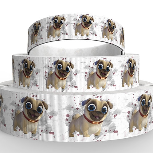 Pug Ribbon Grosgrain 1.5in