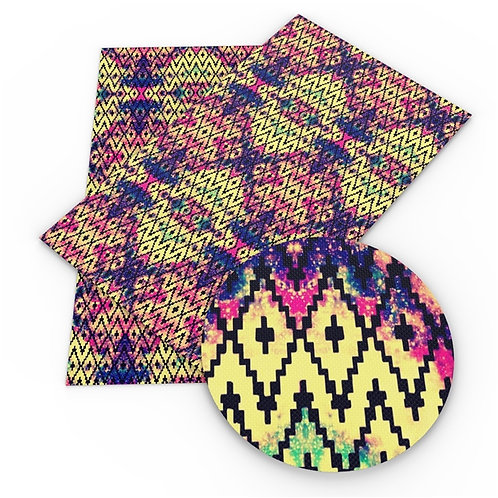 Multi Triangles with Colors Embroidery Vinyl