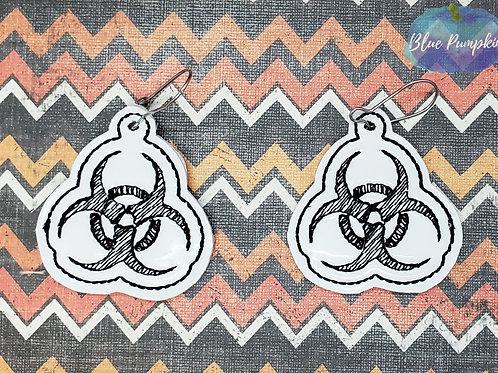 Bio-hazard  Earrings