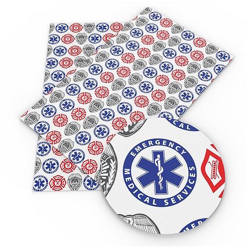 Emergency Emblems Rows Embroidery Vinyl