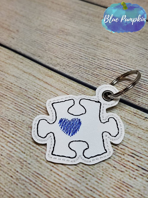Puzzle Piece ITH Zipper Pull