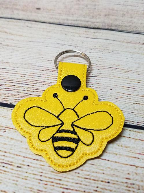 Simple Bee Key Fob