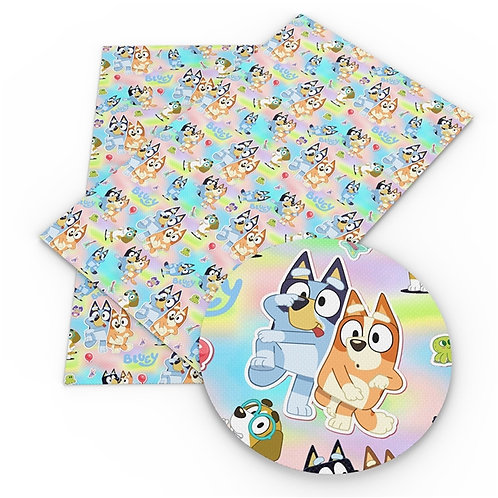 Playful Pups Printed Embroidery Vinyl