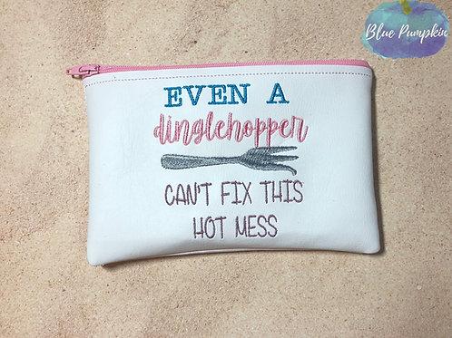 Dinglehopper Hot mess ITH Zipper Bag Design