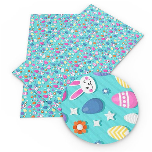 Eggs and Bunny  Embroidery Vinyl