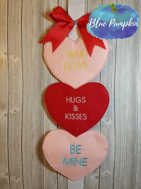 Classic Conversation Hearts Door Hanger