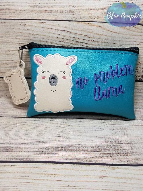 No Prob Llama ITH Zipper Bag Design