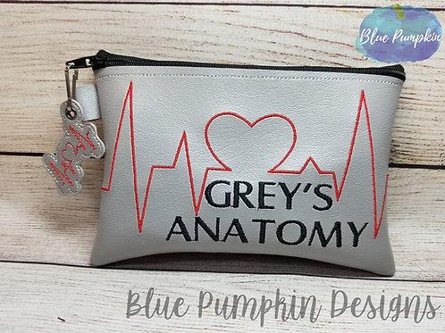 Grey's Heartbeat ITH Zipper Bag Design
