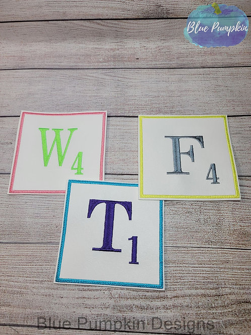 5in Tile Alphabet Coasters
