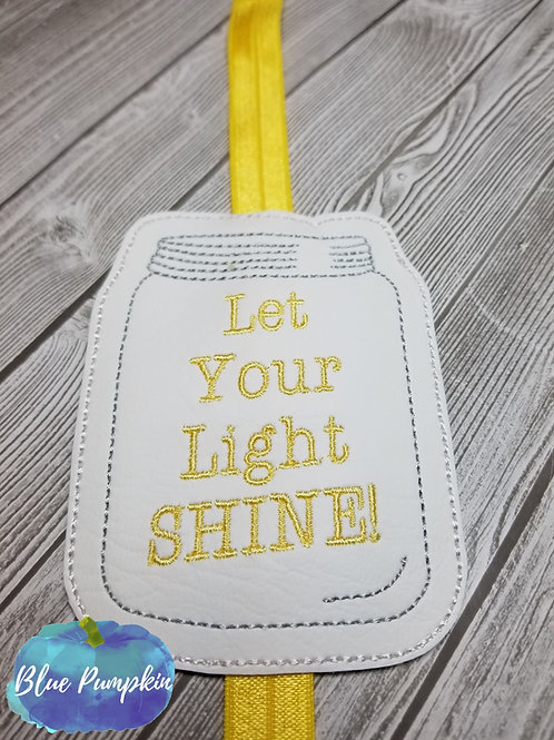 Let Your Light Shine Planner Band