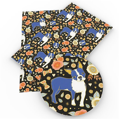 Blue Terriers  Embroidery Vinyl