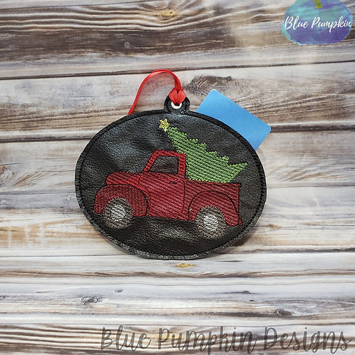 Red Truck Ornament and Gift Card Holder