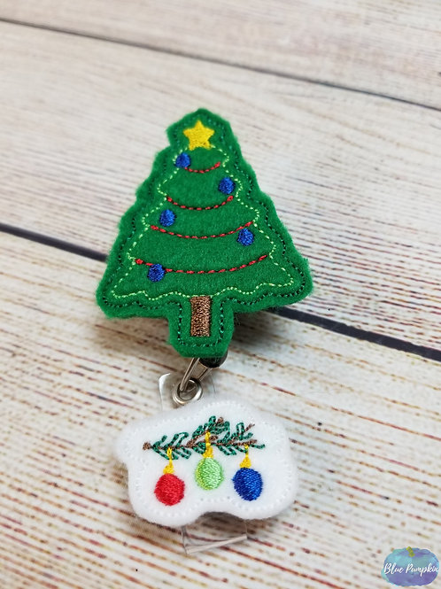 Christmas badge Reel Feltie Design