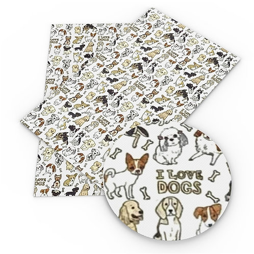 I Love Dogs Embroidery Vinyl
