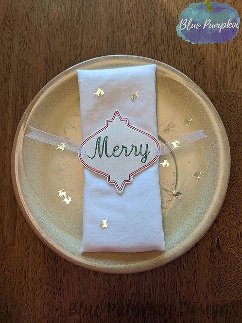 Christmas Set of  Napkin Ring Holders