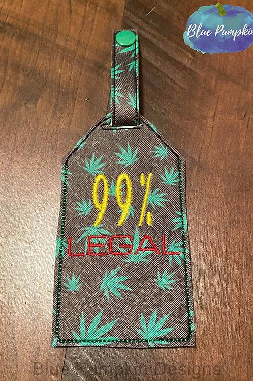 99% Legal Baggage Luggage Tag