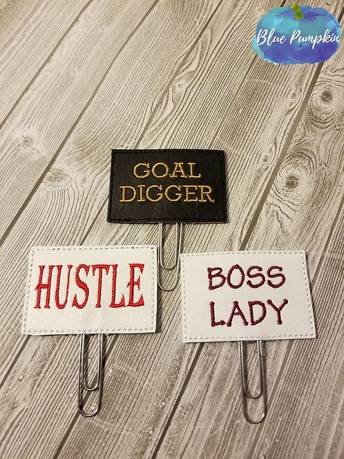 Goal Hustle Boss Paper Clip Toppers