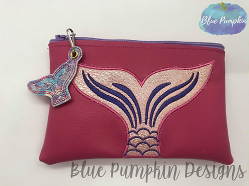 Mermaid Tail  ITH Zipper Bag Design