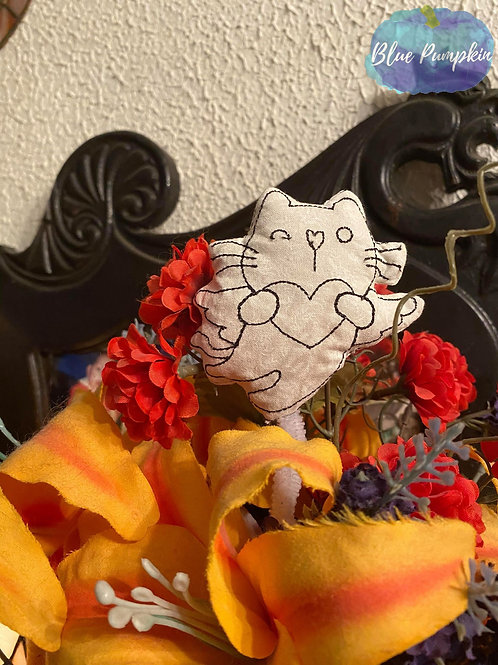 3 Sizes Cupid Kitty Color your Own Stuffie