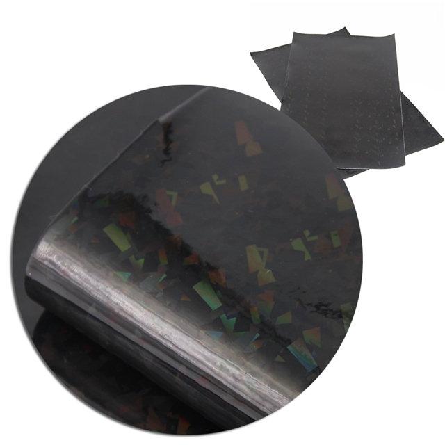 Black Broken Glass Iridescent Embroidery Vinyl
